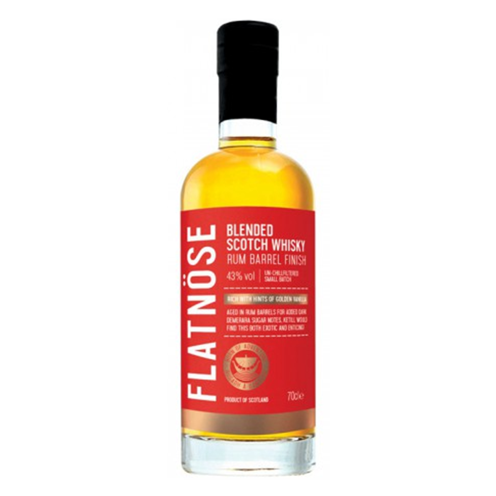 FLATNOSE - Blended Scotch Whisky - RUM FINISH - 70cl